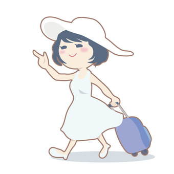 Woman going on a trip