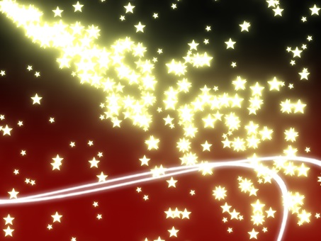 Particle star (background red)