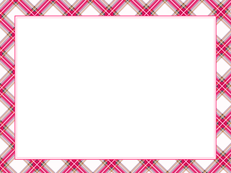 Rectangular frame with pink check pattern