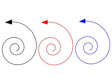 Business Material Spiral arrow 1