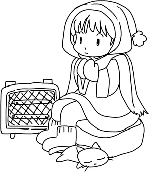 Coldly (line drawing)