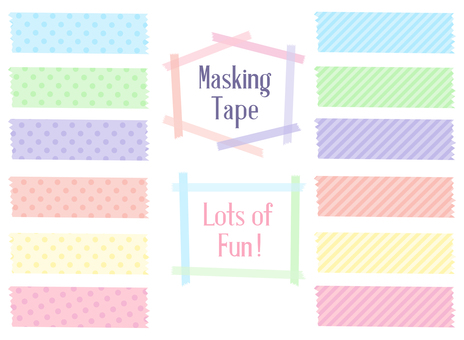 Masking tape set · pastel color
