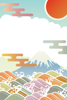 Mt. Fuji Japanese Pattern Frame
