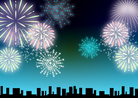 Fireworks and night sky background