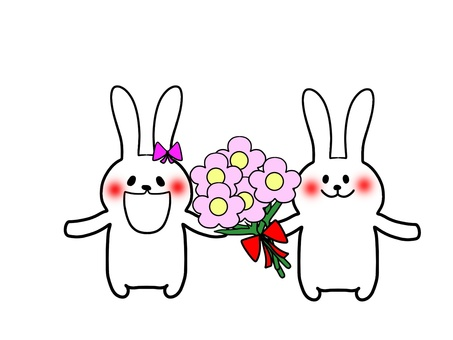 Flowers and rabbits 4