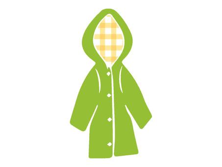 Raincoat yellow green
