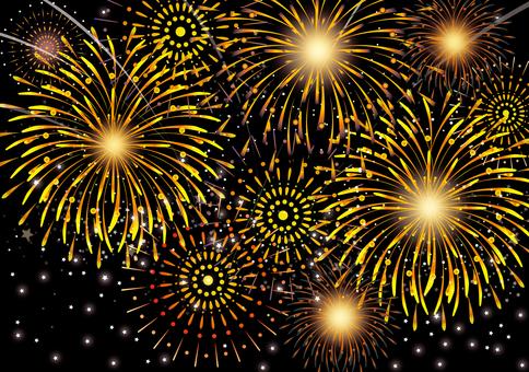 Fireworks competition background black