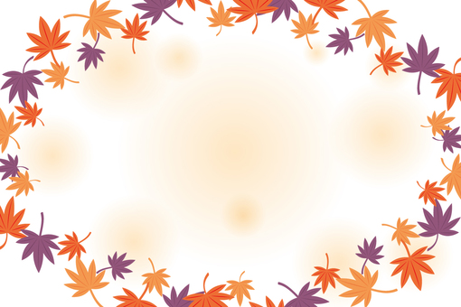 Autumn leaves frame 2