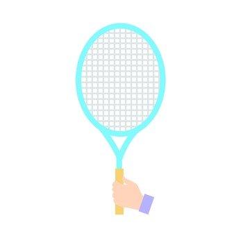 손 - 테니스 라켓을 든 손