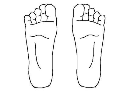 Foot soles (both feet)