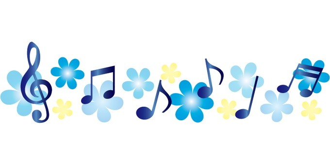 Blue! Musical note line