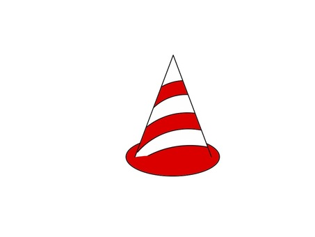 Color cone red white