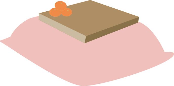 Mandarin orange with a kotatsu