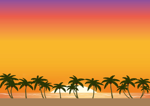 Sunset in Tropical country