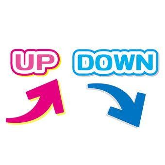 Illustration of up / down