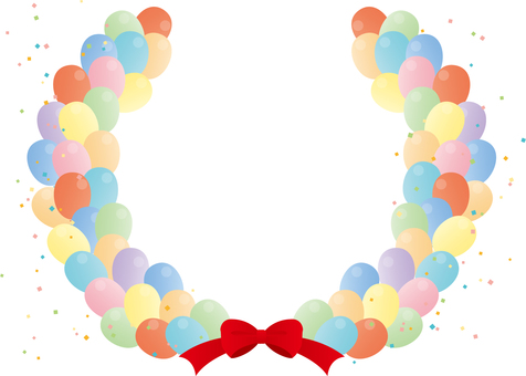 Balloon enclosure like laurel crown