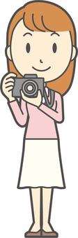 Pink girl long hair-047-whole body