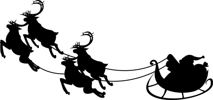 Santa's silhouette