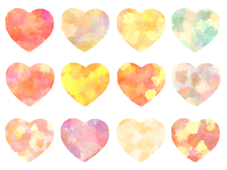 Hako Watercolor Heart Orange