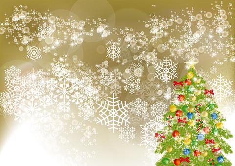 Christmas tree & snow 16