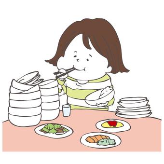 大食いの女