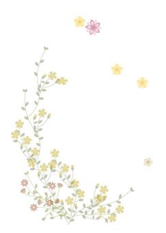 Autumn flower postcard