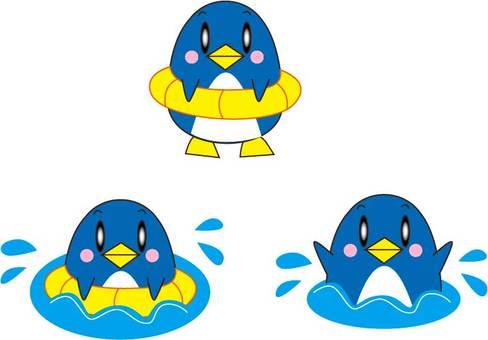 Floating ring penguin, swim