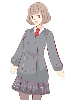 Girl uniform coat