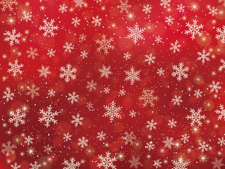 雪の結晶の背景素材(赤)