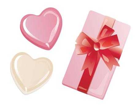Heart chocolate and box_02