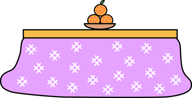Mandarin orange with a kotatsu