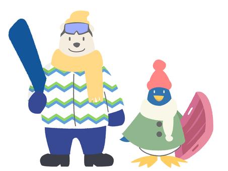 Polar bear and penguin 2