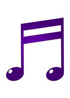 Musical Note - Purple