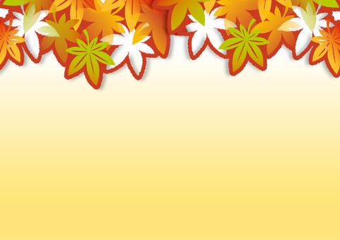 紅葉の切り絵風フレーム_C02