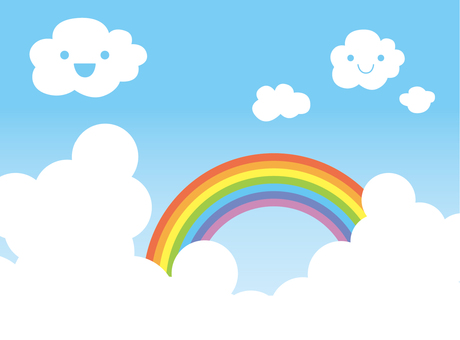 Clouds and rainbows