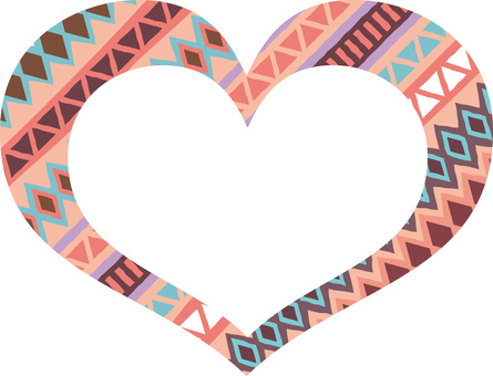 Ethnic pattern heart