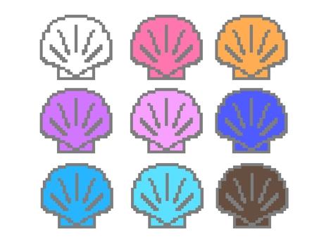 Pixel art scallop