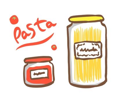 意大利面和番茄醬套