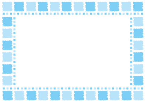 Frame - blotting tile - blue