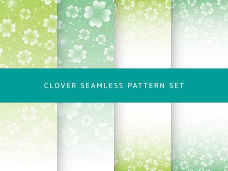 Clover seamless pattern set