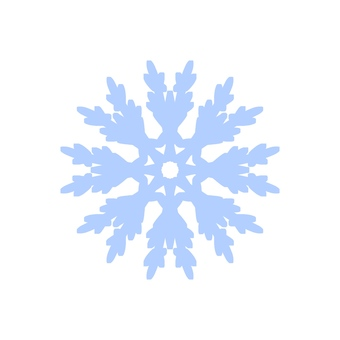 Light blue snowflake