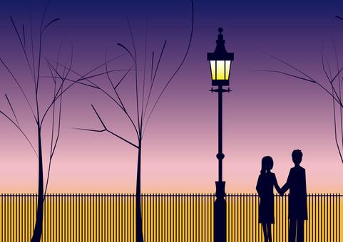 Street light (dusk)