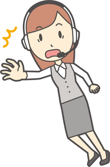 Call center women -263 - whole body