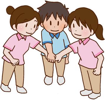 [Rehabilitation] Cooperation, cooperation, tag, team