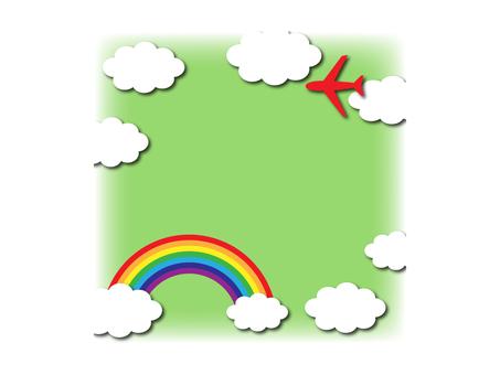 하늘과 비행기