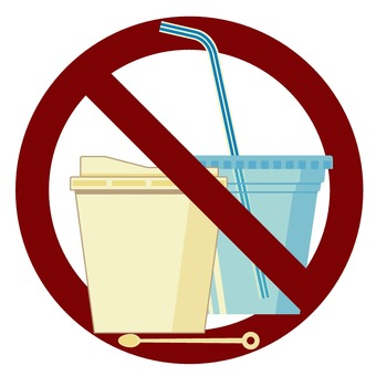 Prohibition of plastic containers