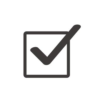 Check box (black pen)