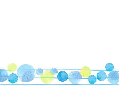 블루 라인과 물방울