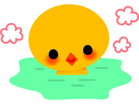 Chick and bathing 1