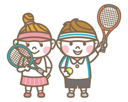 Tennis Boy & Girl